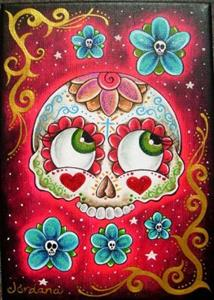 Detail Image for art Sugar Skull With Roses