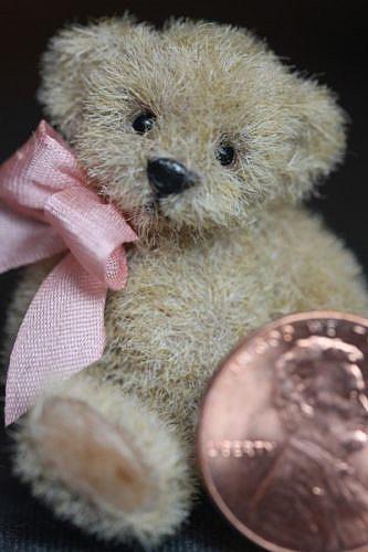 Art: miniature teddy bear SOLD by Artist Kimbearly's Originals