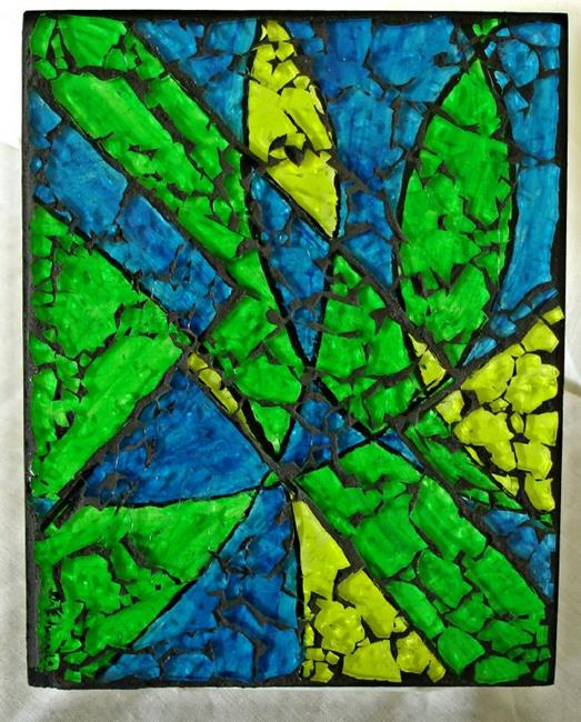 Art: Neon Abstract (sold) by Artist Dorothy Edwards