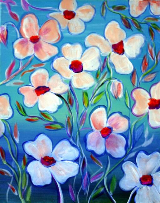 Art: WHITE FLOWERS BLUE AFTERNOON by Artist LUIZA VIZOLI