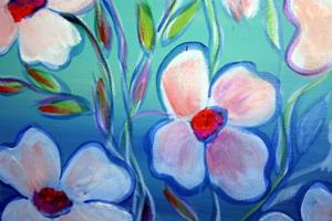 Detail Image for art WHITE FLOWERS BLUE AFTERNOON