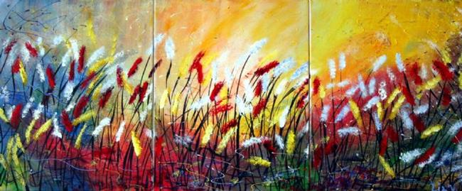 Art: Blooming Flowers  by Artist LUIZA VIZOLI
