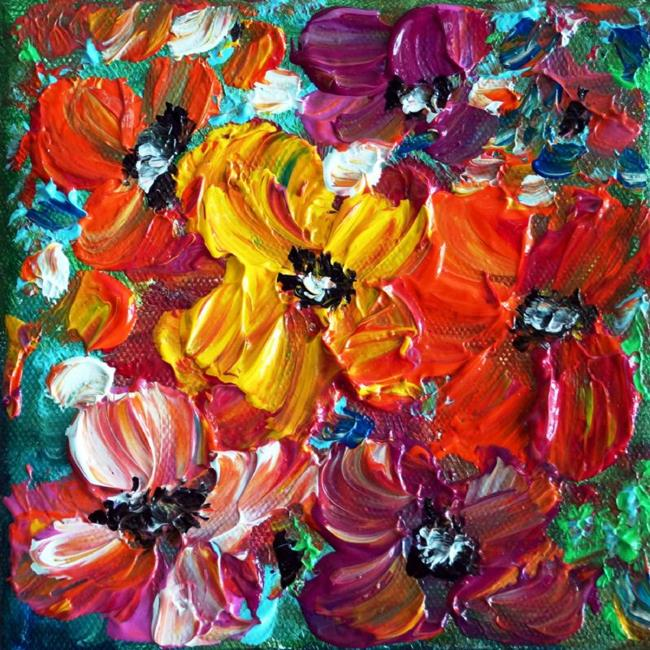 Art: COLORFUL FLOWERS by Artist LUIZA VIZOLI