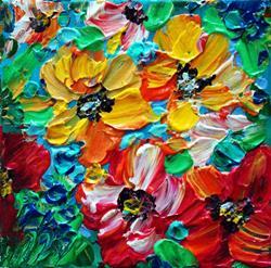 Art: YELLOW RED SPRING FLORAL by Artist LUIZA VIZOLI