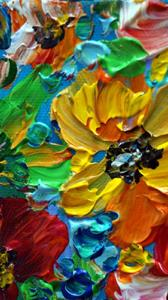 Detail Image for art YELLOW RED SPRING FLORAL
