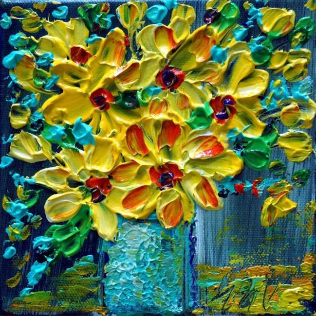 Art: YELLOW BOUQUET by Artist LUIZA VIZOLI