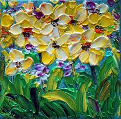 Art: Daffodil Flowers by Artist LUIZA VIZOLI