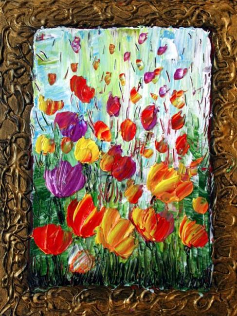 Art: TULIPS- Flowers Garden Seria by Artist LUIZA VIZOLI