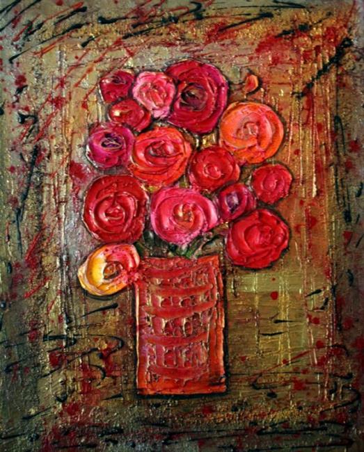 Art: FLOWERS BOUQUET by Artist LUIZA VIZOLI