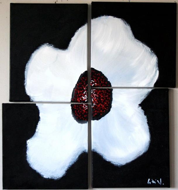 Flower Art Black And White Art Black White Red Flower