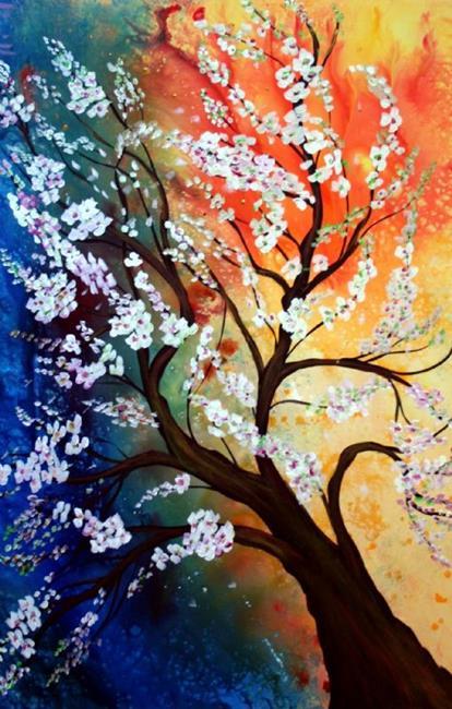 Art: APPLE in BLOOM by Artist LUIZA VIZOLI
