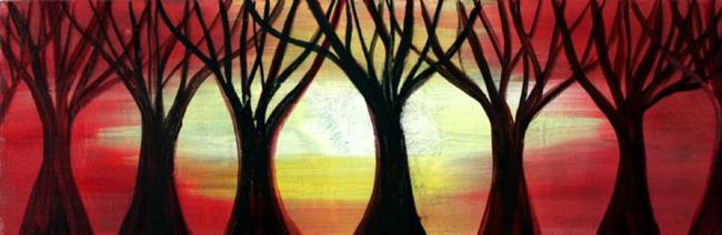 Art: TREES at SUNSET by Artist LUIZA VIZOLI