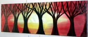 Detail Image for art TREES at SUNSET