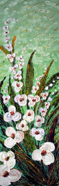 Art: WHITE ORCHIDS  by Artist LUIZA VIZOLI
