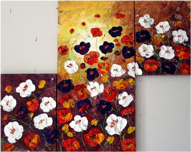 Art: ROADSIDE FLOWERS  by Artist LUIZA VIZOLI