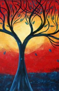 Detail Image for art BLUE RAIN RED SUNSET