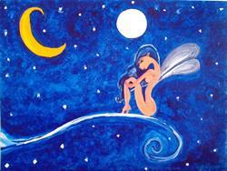 Art: Fae of Two Moons by Artist Jennifer Lee