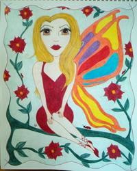 Art: The Red Fae by Artist Jennifer Lee