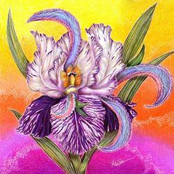 Art: Paisley Iris by Artist Alma Lee