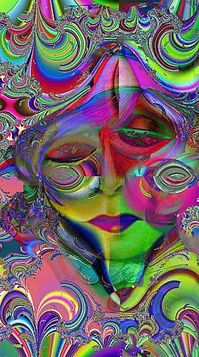 Art: Max Fractal Woman by Artist Alma Lee