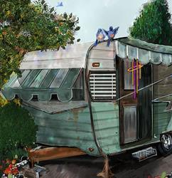 Art: My Dream Home by Artist Alma Lee