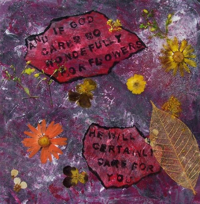Art: If God so Cares for Flowers... by Artist Joseph J. Callahan