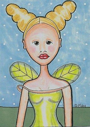 Art: Earth Fairy-29 Faces by Artist Sherry Key