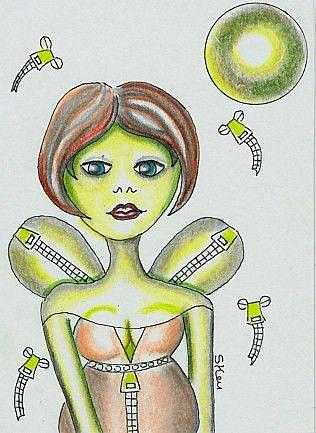 Art: Zipper Fly Smuggling Fairy by Artist Sherry Key