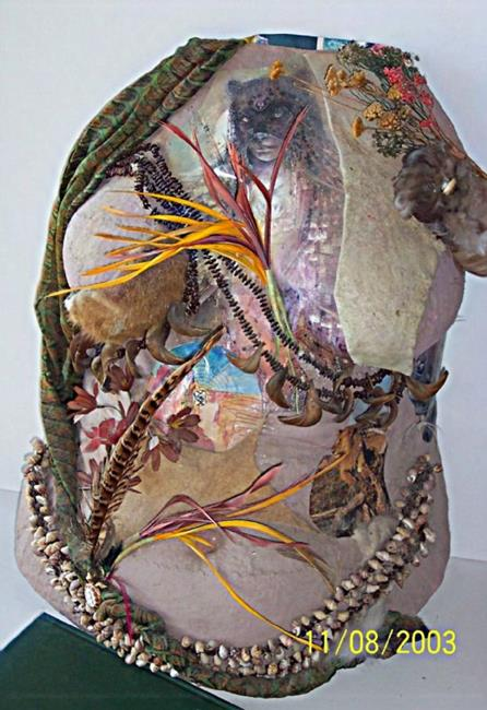 Art: Wild Woman Torso Cast by Artist Karin Elizabeth Weiss