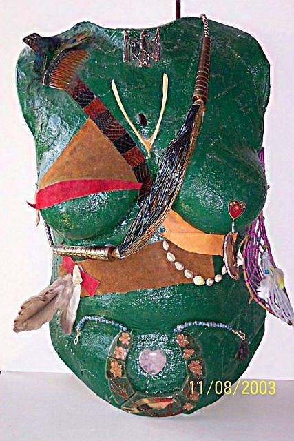 Art: Warrior Woman Torso Cast by Artist Karin Elizabeth Weiss