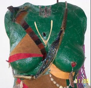 Detail Image for art Warrior Woman Torso Cast