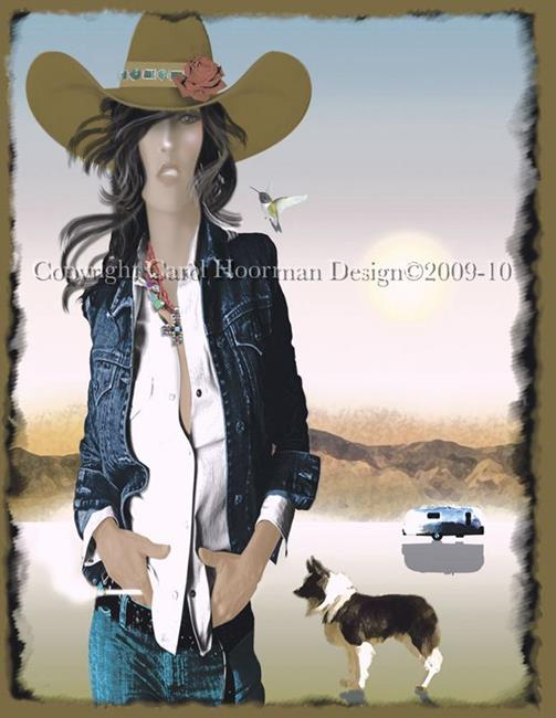 Art: Trailer Girl by Artist Carol Cross