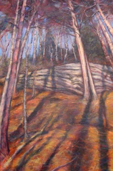 Art: The Forest #2 (sold) by Artist Virginia Ann Zuelsdorf