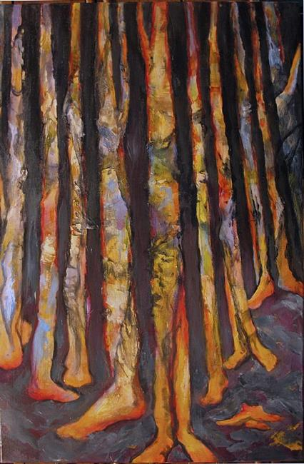 Art: If Trees Had Feet Would They Walk With Us? by Artist Virginia Ann Zuelsdorf
