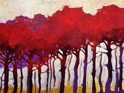 Art: Ultimi raggi di sole in pineta by Artist Alessandro Andreuccetti