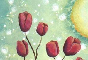 Detail Image for art Tulip Tree  - Green Sky