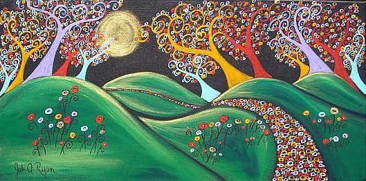 Art: Drawn To The Moonlight by Artist Juli Cady Ryan