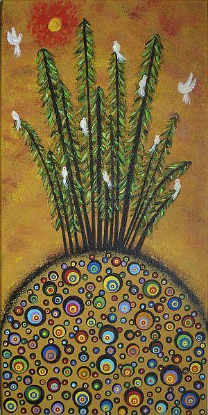Art: Mystical Pines by Artist Juli Cady Ryan