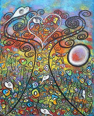 Art: Spreading Love And Peace by Artist Juli Cady Ryan