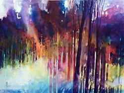 Art: Lampi di luce nella foresta by Artist Alessandro Andreuccetti