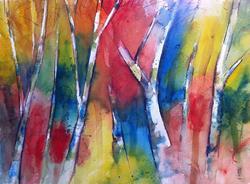 Art: Alberi nel bosco by Artist Alessandro Andreuccetti