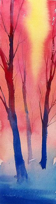 Art: alberi al tramonto by Artist Alessandro Andreuccetti