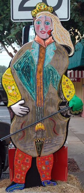 Art: Chagall's Cello Scarecrow by Artist Tina Marie Ferguson