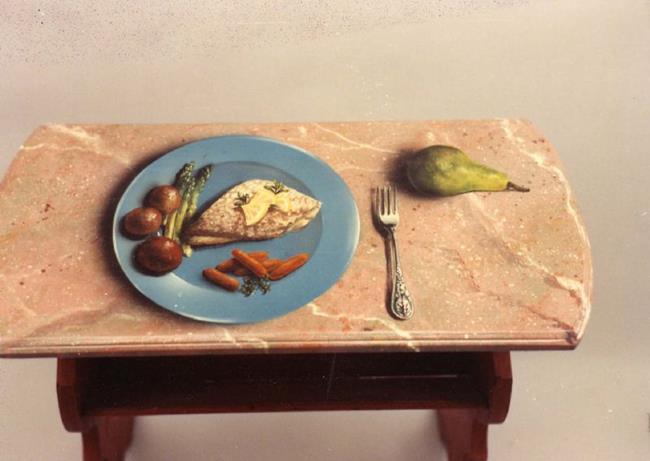 Art: Fish Table by Artist Lauren Cole Abrams