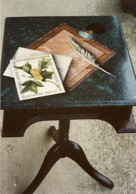 Art: Stationary Table by Artist Lauren Cole Abrams