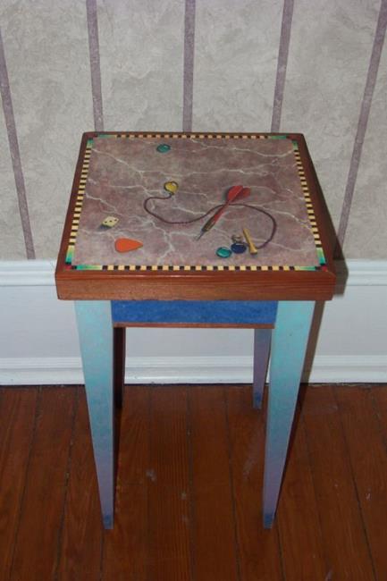 Art: Dart Table by Artist Lauren Cole Abrams