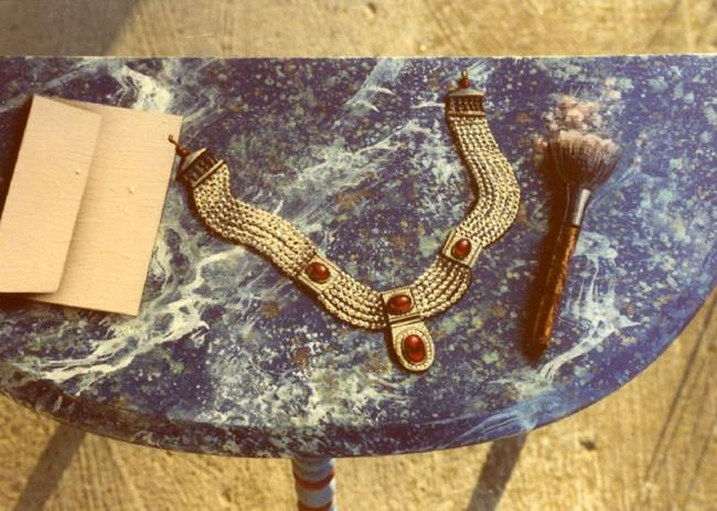 Art: Necklace Table by Artist Lauren Cole Abrams