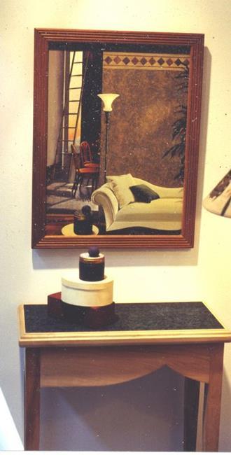 Art: Sculpture with sofa by Artist Lauren Cole Abrams