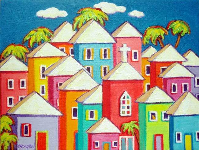 Art: Little Village by Artist Rebecca Stringer Korpita
