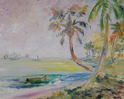 Art: Tropical Beach by Artist Delilah Smith